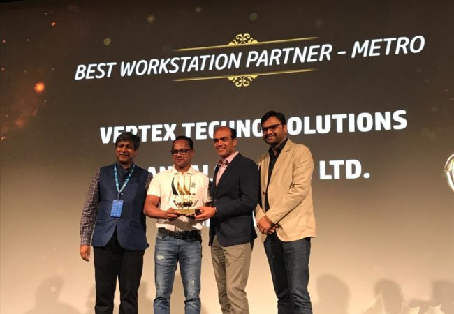 Award-best workstation partner-vertex-techno-solutions